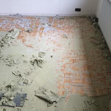 Vorher mit Teppich belegt
